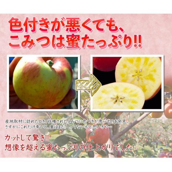 林檎 リンゴ 青森県産 ちょっと訳あり こみつりんご 6~12玉 約2kg 秀A品 ムラ・小さな傷あり 常温 4箱まで同一配送先に送料1口で配送可能03