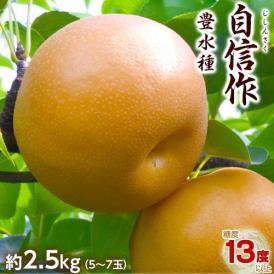 梨 なし 栃木県那須野産 自信作 豊水 5~7玉 約2.5kg 常温 または 冷蔵 送料無料