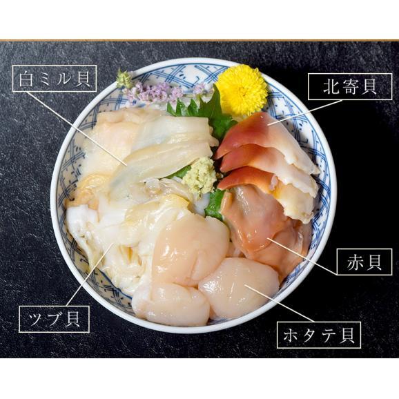 5種の貝づくし 各5枚 合計25枚 約180g ホタテ貝 つぶ貝 赤貝 白ミル貝 北寄貝 冷凍03