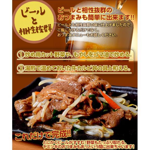 肉 牛 カルビ ご飯のお供 牛カルビ丼の具 1食100g×10食セット おかず ご飯のおとも ごはんのおとも 冷凍食品 レトルト 夜食 夕食 簡単調理 送料無料 冷凍同梱可能05