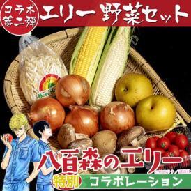 「八百森のエリー・野菜セット」 セット内容:とうもろこし(黄・白)/アイコトマト/肉厚しいたけ/たまねぎ/梨/もやし ※冷蔵・送料無料