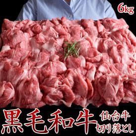 牛 牛肉 切り落とし 仙台牛切り落とし 計6kg(500g×12パックセット) ギフト 贈答品 お礼 贈り物 送料無料 スライス 焼き肉 冷凍