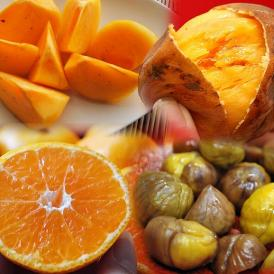 送料無料!豊洲市場開場記念「フルーツ福袋 合計約6kg」みかん・種なし柿・安納紅芋・おまけの甘栗2袋
