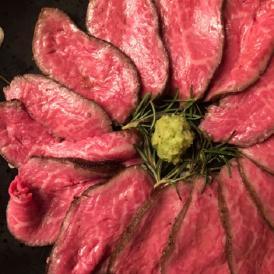 ギフト 肉 牛肉 鹿児島県 鹿屋 平松牧場 マザービーフの低温調理 ローストビーフ 300g前後 化粧箱入り わさびとタレ付き 送料無料 クリスマス 冷凍 産地直送