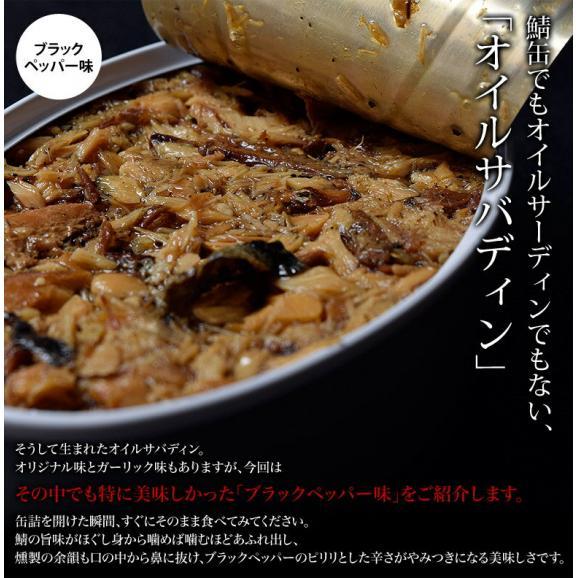さば 鯖 サバ 缶詰 保存食 駿河燻鯖 オイルサバディン 缶詰 ブラックペッパー 100g×4缶セット 常温04