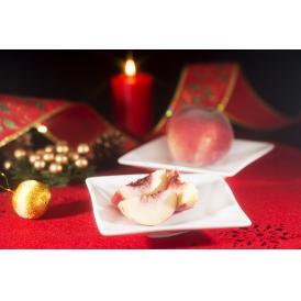 12月にお届けする桃 山梨県産『冬桃』(クリスマスピーチ) 3玉 約450g