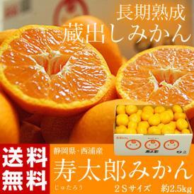 みかん ミカン 静岡県産 寿太郎みかん 超小玉2S 約2.5kg 送料無料