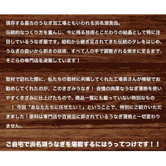 うなぎ ウナギ 鰻 浜名湖食品のきざみうなぎ 浜名湖産うなぎ使用 1パック 500g 冷凍 送料無料05