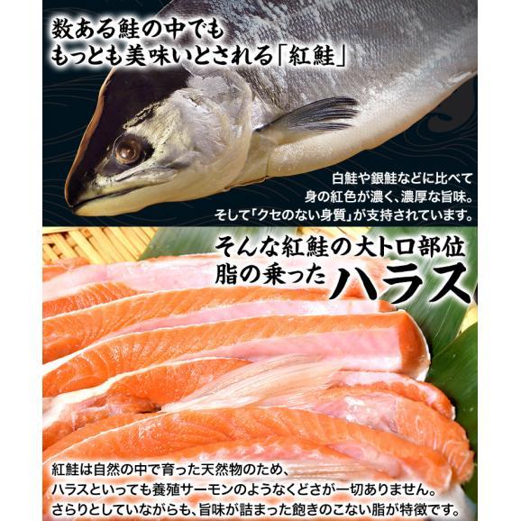 シャケ さけ 紅鮭 大トロ ハラス どっさり1キロ(500g×2P)送料無料 ※冷凍 02