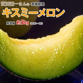 メロン MELON 茨城県産 芝田誠一さんのキスミーメロン 産地箱 約5kg(3~4玉) 常温 送料無料