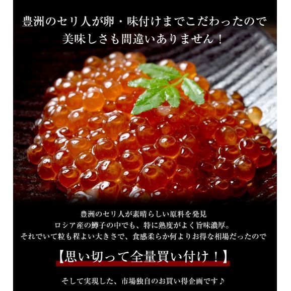 イクラ いくらしょうゆ いくら醤油漬け ロシア産鱒子使用 青森加工 1パック 大盛 500g 冷凍 送料無料02