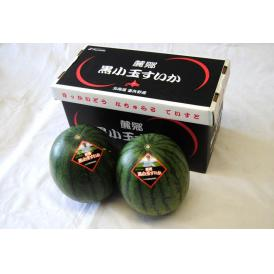 すいか スイカ 西瓜 北海道富良野産『黒小玉すいか』 Lサイズ 約1.3kg×2玉 送料無料