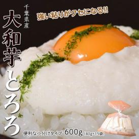 芋 とろろ 千葉県産大和芋600g(40g×15袋入り) いも やまといも ご飯 とろろそば 冷凍