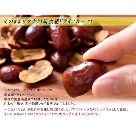 ドライフルーツ 砂糖不使用 無添加 赤い なつめ 20g×3袋 セット 新食感 棗 ナツメ 赤いなつめ ドライ フルーツ 美容 健康 パン おやつ 乾燥 果物 常温 送料無料 ゆうメール 同梱不可03