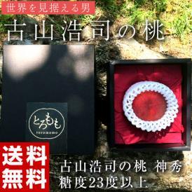 古山浩司氏が作る糖度23度以上の桃 神秀 1玉 福島県産 送料無料 常温 産地直送 もも モモ ギフト 贈り物 贈答