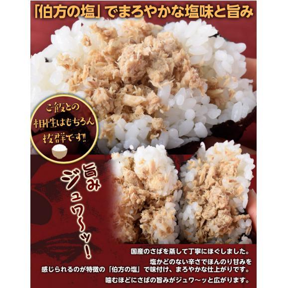 鯖 サバ さば ご飯のお供 伯方の塩使用 焼き塩さばほぐし 120g×3本 常温03