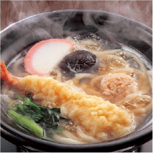 業務用 えび天鍋焼きうどん 10食 電子レンジ ウドン 海老 海老天 天ぷら 夜食 朝食 送料無料 冷凍01