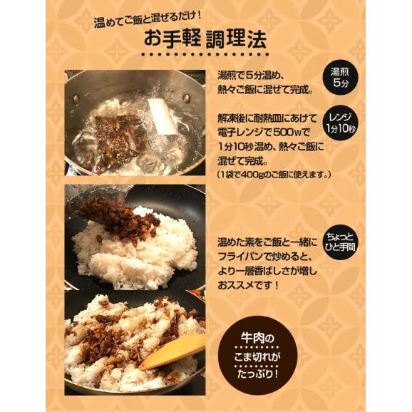 ご飯のお供 ガーリックライスの素 100g×5P 肉 牛肉 ガーリックライス 冷凍 冷凍同梱可能 送料無料04
