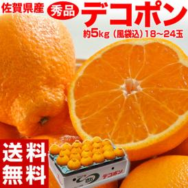デコポン 佐賀県産 秀品 18~24玉 約5kg(風袋込) 送料無料