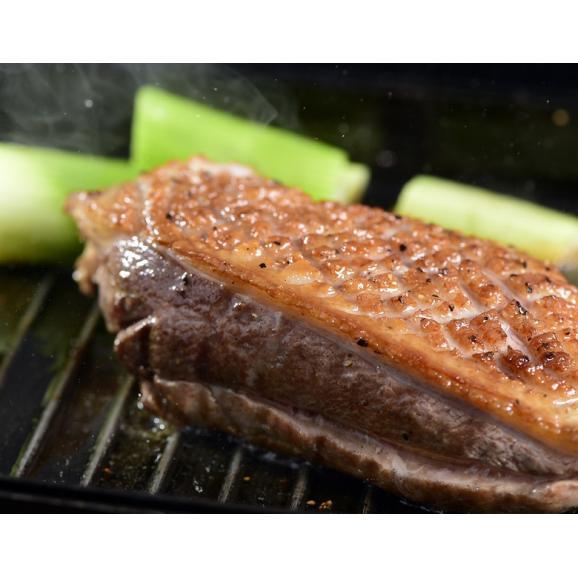 『フランス鴨(バルバリー種)のロース肉』オス・メス混合 計約1kg(3~4枚)青森県産 ※冷凍 送料無料01