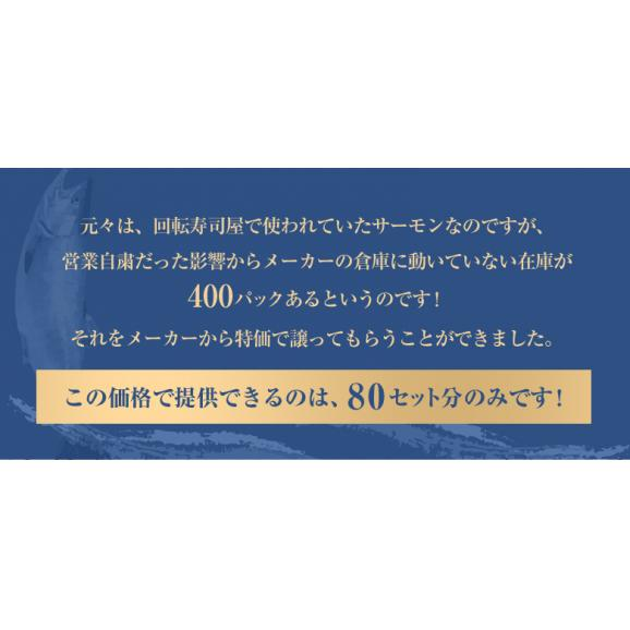 【賞味期限間近】サーモン さーもん サケ さけ 鮭 チリ産 アトランティックサーモンスライス 20枚×5P 計100枚 700g 冷凍 送料無料03