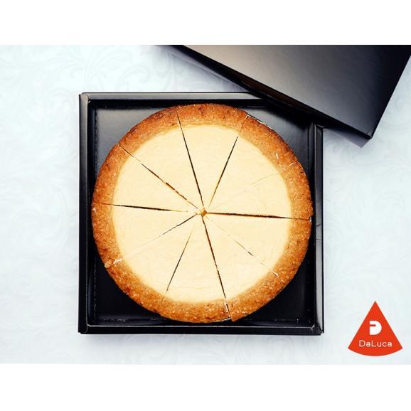 DaLuca『ベイクドチーズケーキ(プレーン)』 1ホール 6号サイズ(18cm)10カットタイプ ※冷凍 送料無料03
