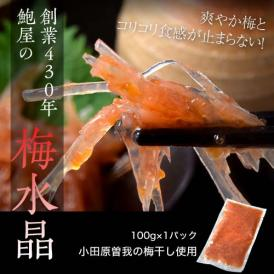 創業430年 鮑屋の梅水晶 100g 1袋 小田原 曽我の梅肉使用 ※冷凍