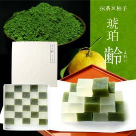 京都 鶴屋光信 母の日 ギフト 和菓子  齢 抹茶×柚子30個入り 琥珀糖
