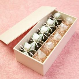 京都 鶴屋光信 母の日 ギフト 和菓子 木箱詰合せ 恋桜5個・抹茶羊羹5個