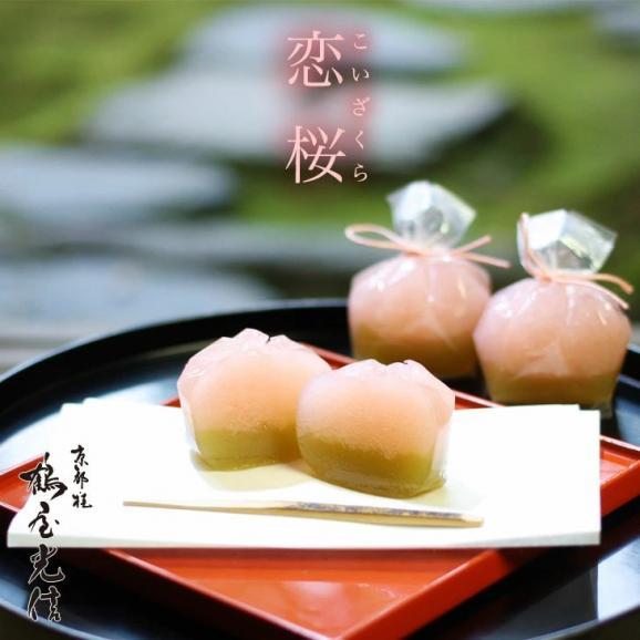 京都 鶴屋光信 お歳暮 御歳暮 ギフト  和菓子 木箱詰合せ 恋桜5個・水羊羹5個 02
