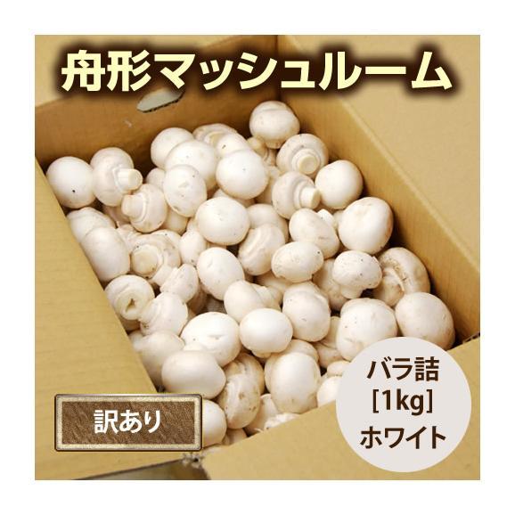 【訳あり】舟形マッシュルーム[バラ詰1kg]箱入04
