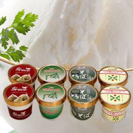 山形ジェラートセット8個詰合せ(つや姫×2、そば×2、だだちゃ豆×2、ラフランス×2)