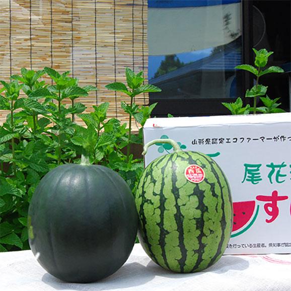 尾花沢すいか小玉2玉(緑・黒おまかせ)01