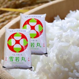 《うまいず米》山形県産雪若丸10kg(無洗米)(5kg×2袋)<令和2年度産>
