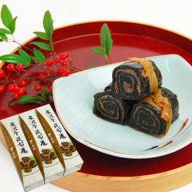 米沢牛を具材に使用した贅沢な昆布巻です。お正月、お祝いなど、ハレの日にぴったりの一品です。
