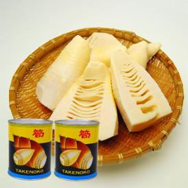山形県産たけのこ(孟宗筍)水煮缶詰[固形量500g]大×2缶