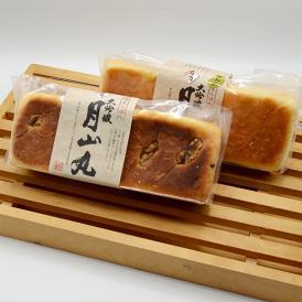 山形の酒蔵和田酒造の名酒「大吟醸月山丸」の酒種を使った食パン型あんぱんのセットです。