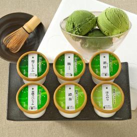 お茶屋の抹茶ジェラート詰合せ8個入(6種類)[箱入]