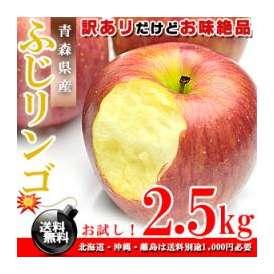 青森県産 ふじりんご お徳用 2.5kg [訳あり][送料無料]【ギフト】【代金引換不可】 F