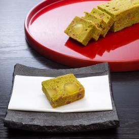 """""""料亭手作り"""" 和栗と干し柿の抹茶パウンドケーキ"""