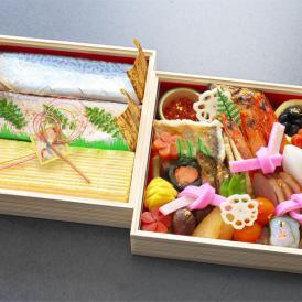 """""""京都らしさ""""にこだわり、鯖寿しやだし巻をセットにした 寿司付京風おせち『福寿』 [送料無料]"""