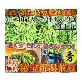 産地直送 新潟茶豆 1kg 秀品A品にいがた西蒲原郡黒埼町エリア中心 高級 枝豆 茶豆