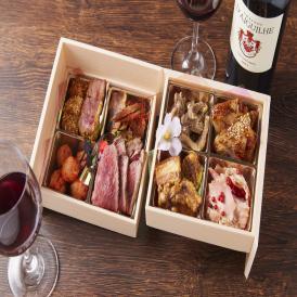 人気の肉懐石とソムリエが厳選した赤ワインのフルボトルのセットです。