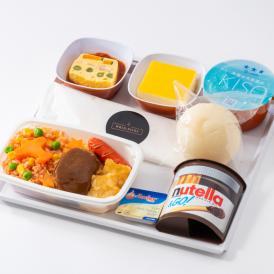 """機内食セット """"お子様向けのお食事"""" 食器付き"""