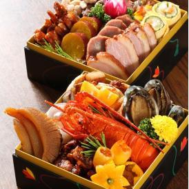 送料無料!活け伊勢海老や活け蝦夷アワビなど厳選した食材を使った中華風のおせちをご家庭で