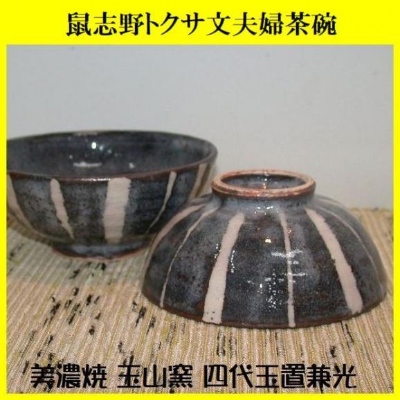 ご飯茶碗 飯碗 陶器 プレゼント 鼠志野トクサ文夫婦茶碗 美濃焼 玉山窯01