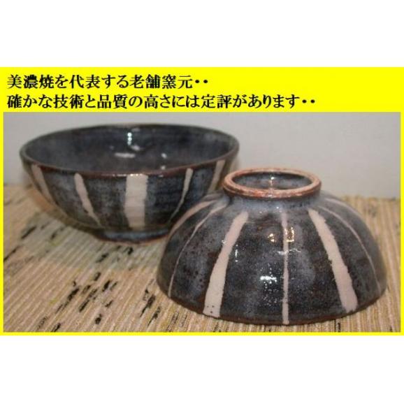 ご飯茶碗 飯碗 陶器 プレゼント 鼠志野トクサ文夫婦茶碗 美濃焼 玉山窯02