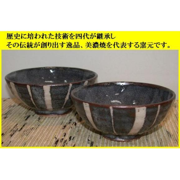 ご飯茶碗 飯碗 陶器 プレゼント 鼠志野トクサ文夫婦茶碗 美濃焼 玉山窯04