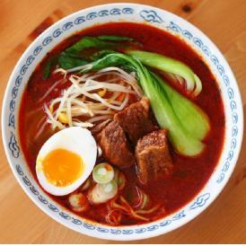 【簡易包装】牛骨ラーメン 大辛 4食セット