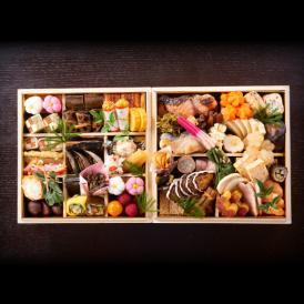 【送料無料】旬菜山﨑のおせち 二段重【特大8寸サイズ】数量限定販売